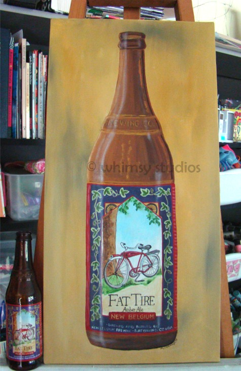Fat tire bottle and canvas