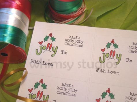 Holly jolly tags