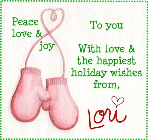 Christmas mittens wish