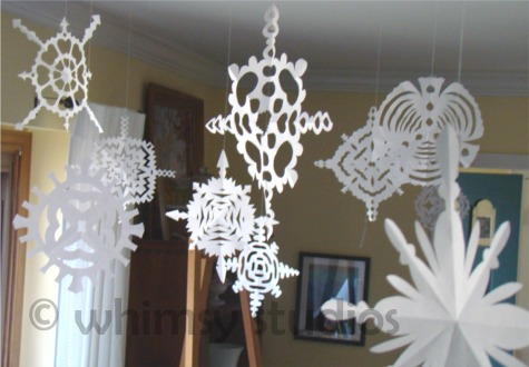 Snowflakes hanging