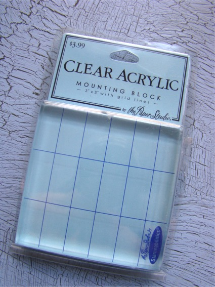 Stamp acrylic block