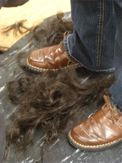 R hair on the floor