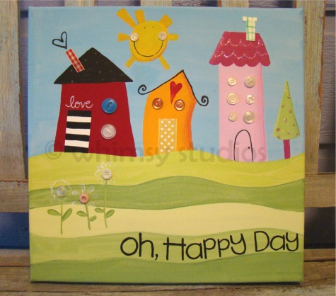 Oh happy day canvas