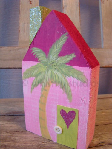 Summer palm tree house