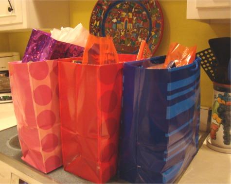 Car trip goody bags