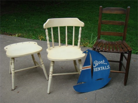 Garage sale chairs