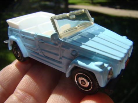 Car blue convertible