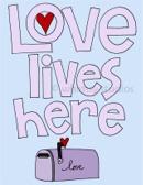 Love Lives Here purple