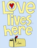 Love Lives Here yellow