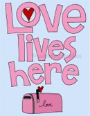 Love Lives Here pink