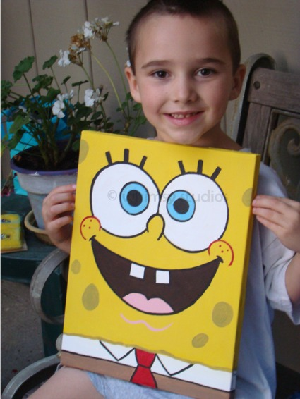 Sam spongebob canvas