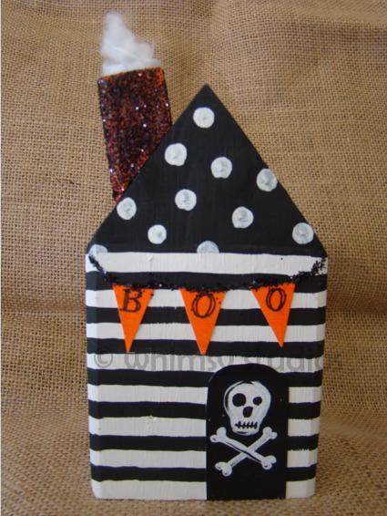 Halloween skull house