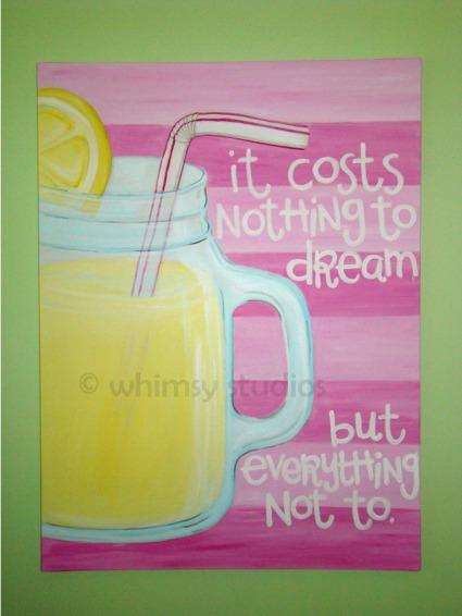 Dreamy lemonade