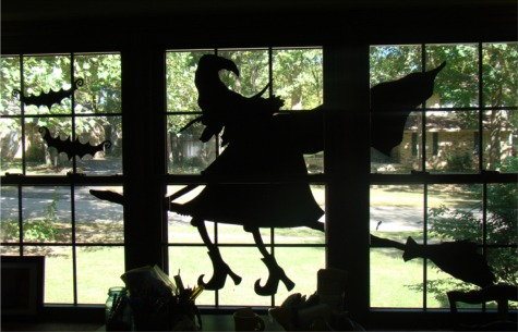 Witch inside silhouette