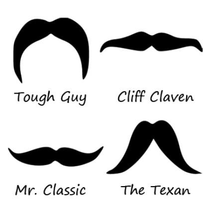 Halloween mustaches