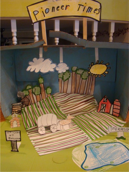 Christmas Shoebox Diorama.Fresh Picked Whimsy Happiness In A Shoebox