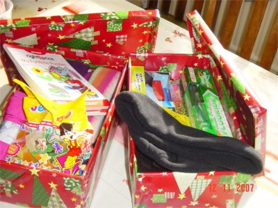 Op christmas child boxes