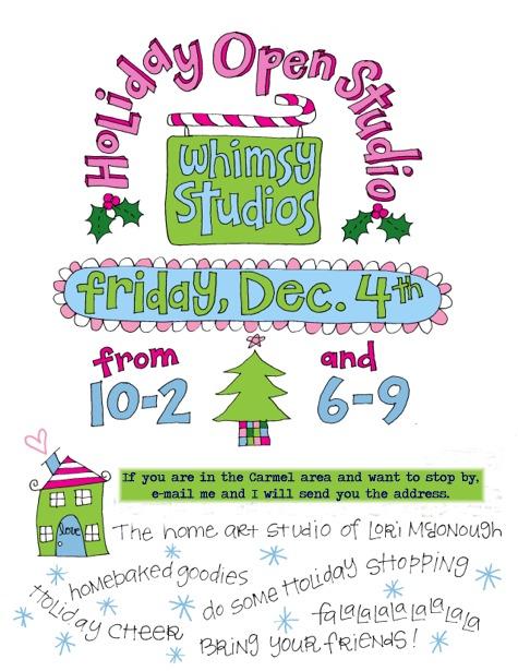 Holiday open studio blog
