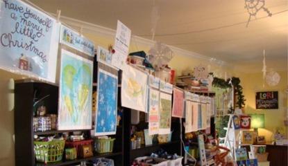 Open studio clothesline