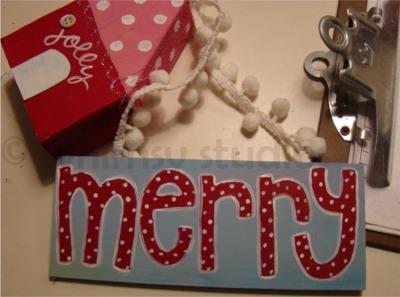 Open studio merry sign