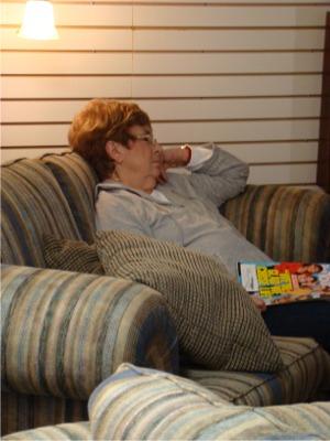 Mom snoozing