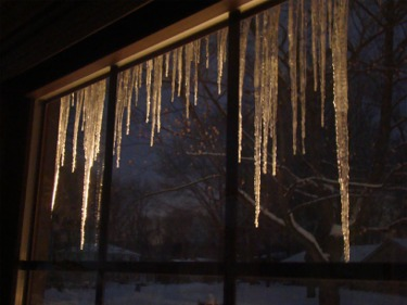 Snow icicles