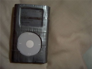 Duct tape ipod cozy