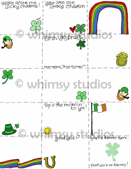 St paddys hunt cards