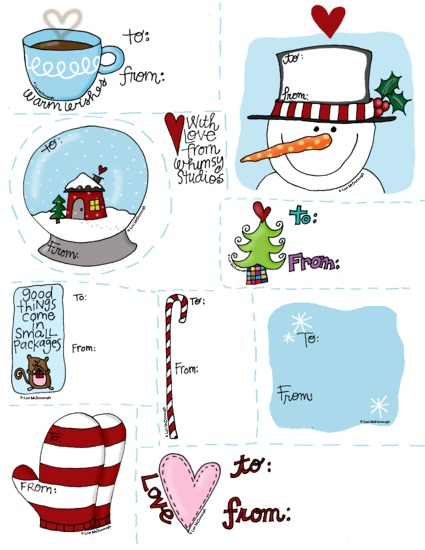 2009 holiday gift tags