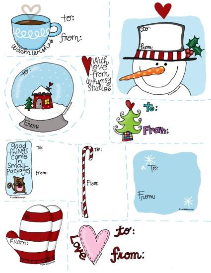 2009 holiday gift tags