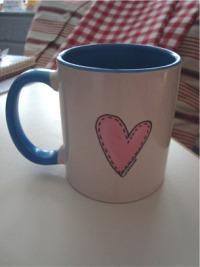 Open studio mug back