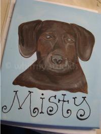 Misty dog