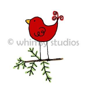 Christmas tags birdie