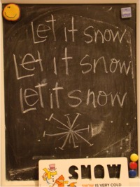 Chalkboard snow