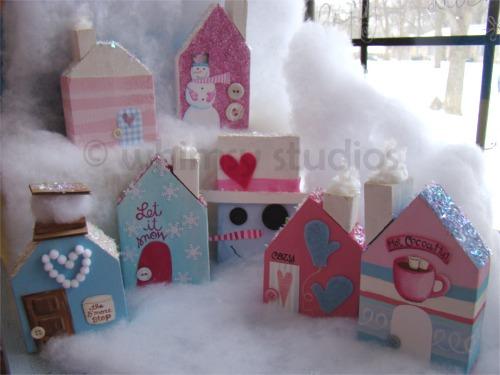 Snowy village set