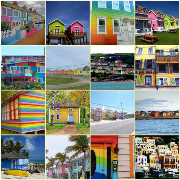 Color houses mosaic