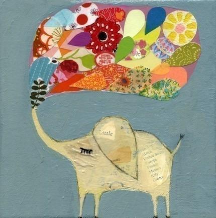 Blue lucky elephant