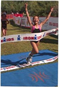 Evie finish line