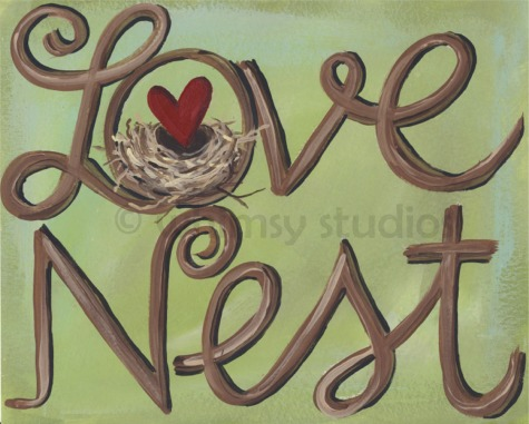Love nest painting