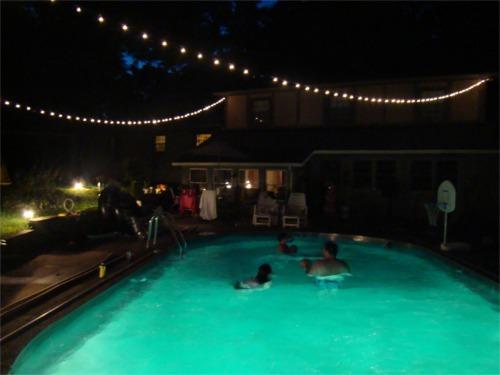 Summer pool lights