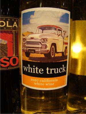 Wine white truck