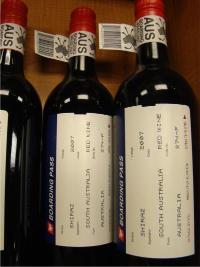Wine boarding pass