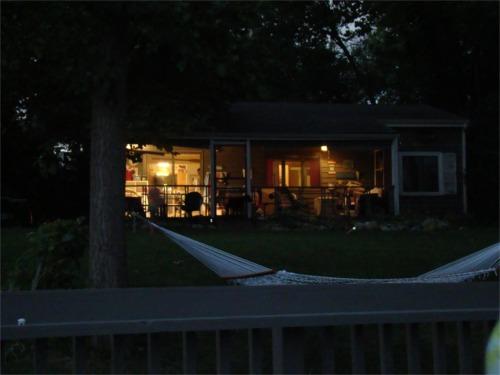 Lake 2010 night house