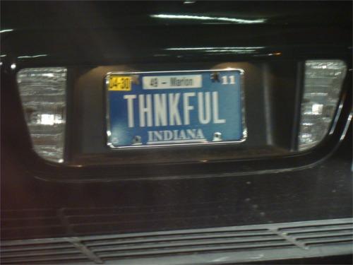 Thankful plate