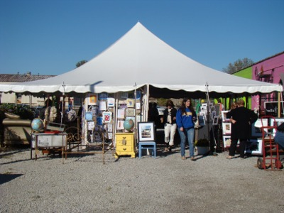 Carmel art fair tent