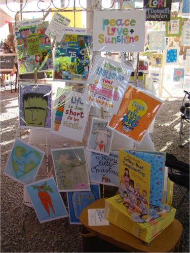 Carmel art fair set up