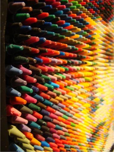 Crayon art up close
