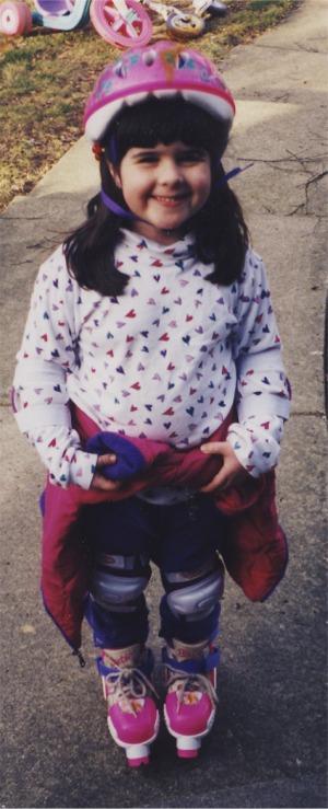 Kate rollerblading