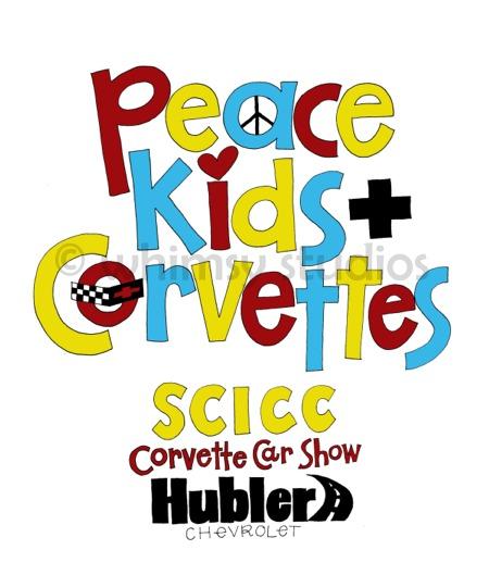 Corvette tshirt art kids