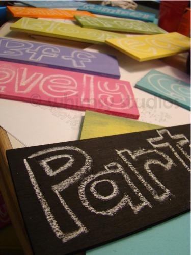 Word signs in progress